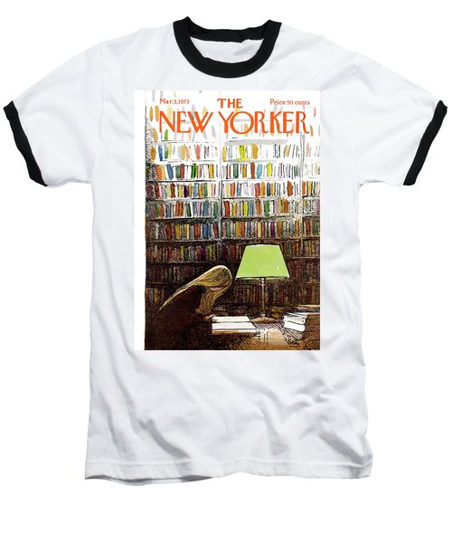 Late Night At The Library Baseball T-Shirt