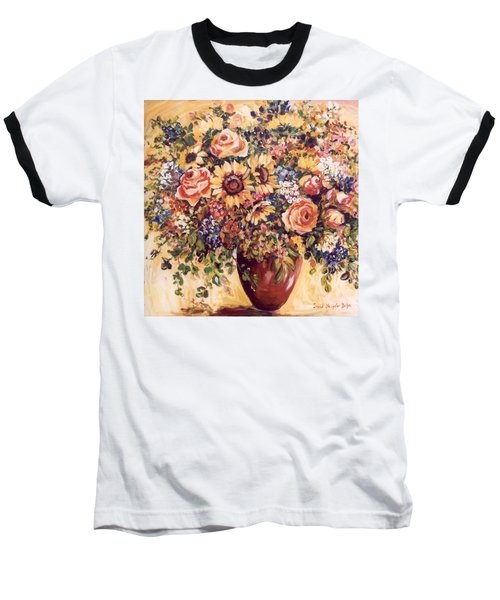 Late Summer Bouquet Baseball T-Shirt by Alexandra Maria Ethlyn Cheshire