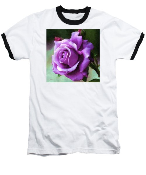 Lavender Lady Baseball T-Shirt by RC deWinter