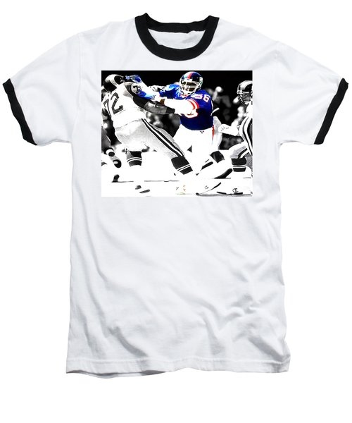 Lawrence Taylor Out Of My Way Baseball T-Shirt by Brian Reaves