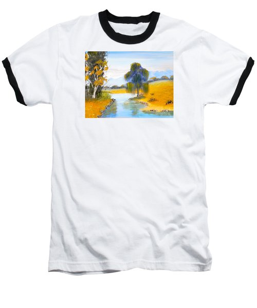 Baseball T-Shirt featuring the painting Lawson River by Pamela  Meredith