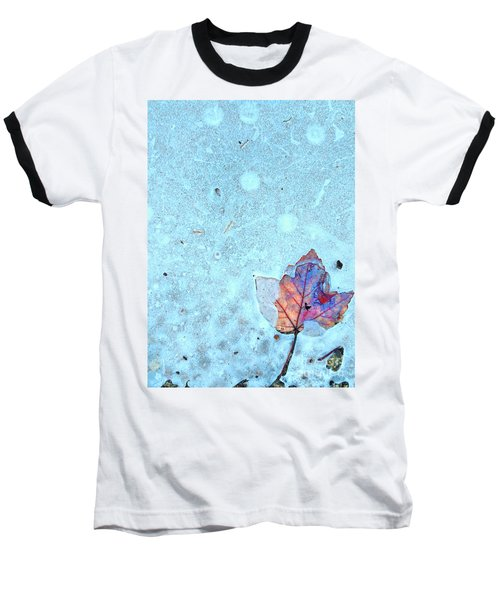 Leaf In Ice Baseball T-Shirt