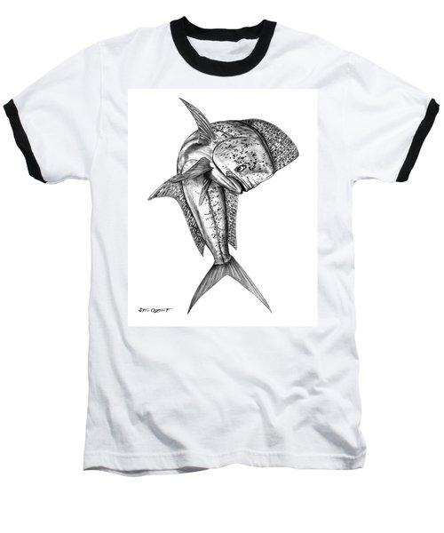 Leaping Dolphin  Baseball T-Shirt