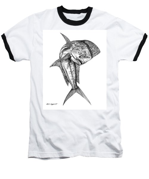 Leaping Dolphin  Baseball T-Shirt