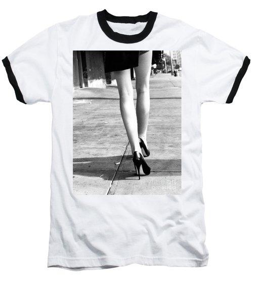 Baseball T-Shirt featuring the photograph Legs New York by Rebecca Harman