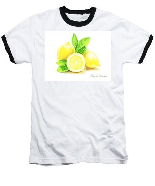 Lemons Baseball T-Shirt by Veronica Minozzi
