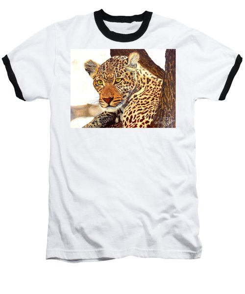 Leopard Point Of View Baseball T-Shirt