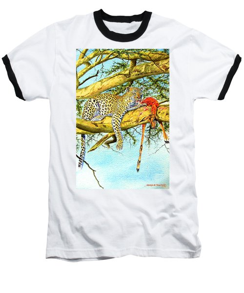 Leopard With A Kill Baseball T-Shirt