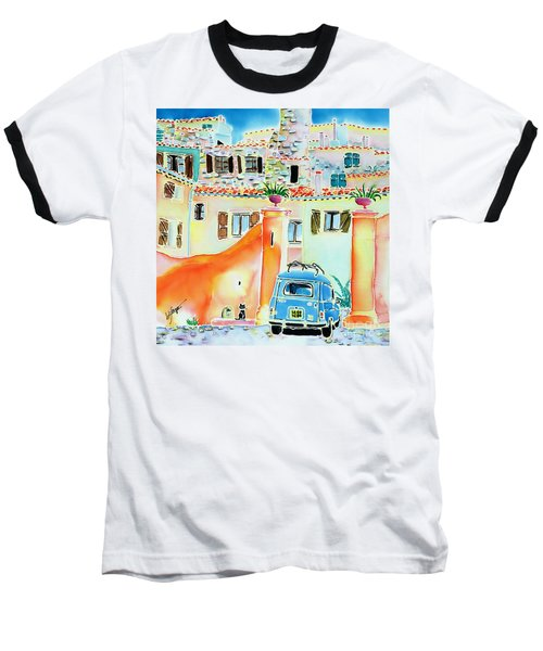Baseball T-Shirt featuring the painting Les Voisins by Hisayo Ohta