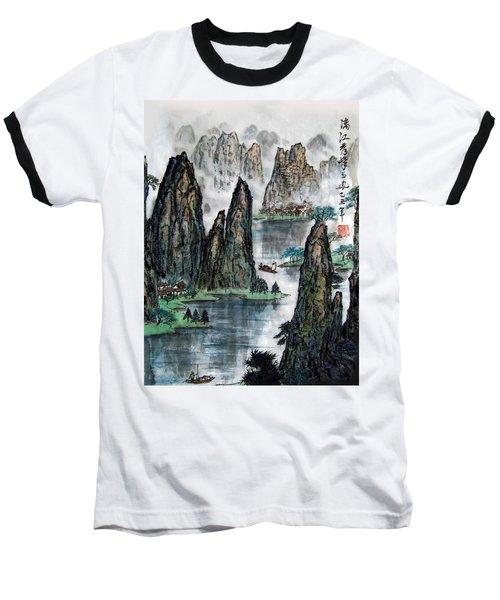 Li River Baseball T-Shirt by Yufeng Wang