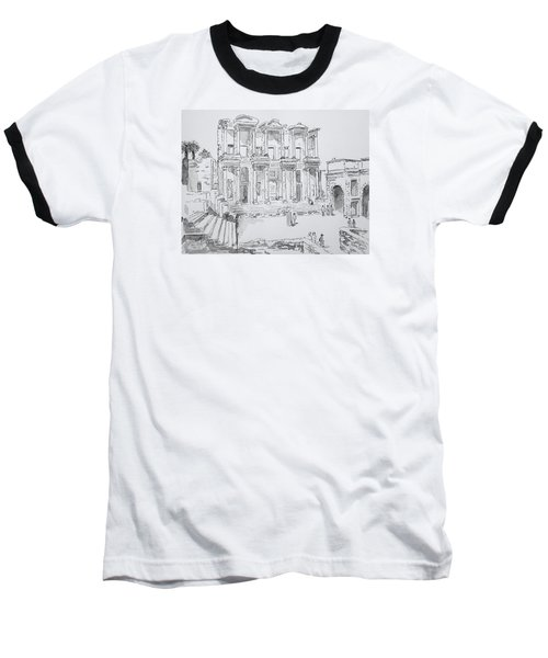 Library At Ephesus Baseball T-Shirt