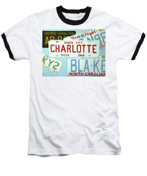 License Plates Baseball T-Shirt by Stacy C Bottoms