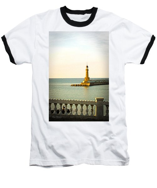 Lighthouse - Alexandria Egypt Baseball T-Shirt by Mary Machare