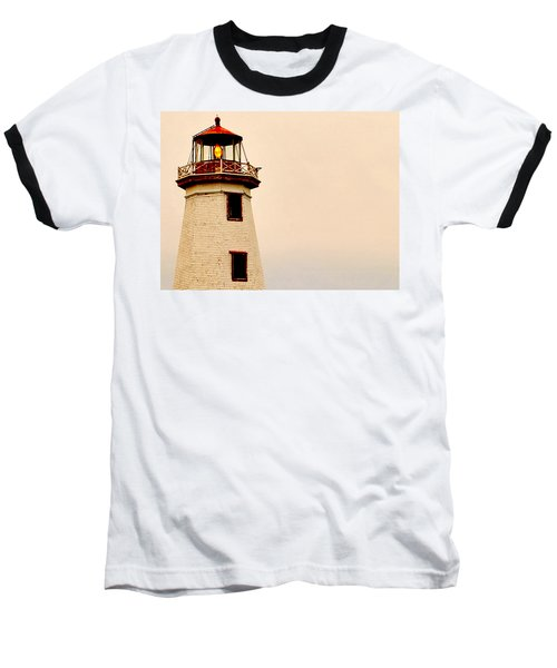 Lighthouse Beam Baseball T-Shirt by Steve Archbold