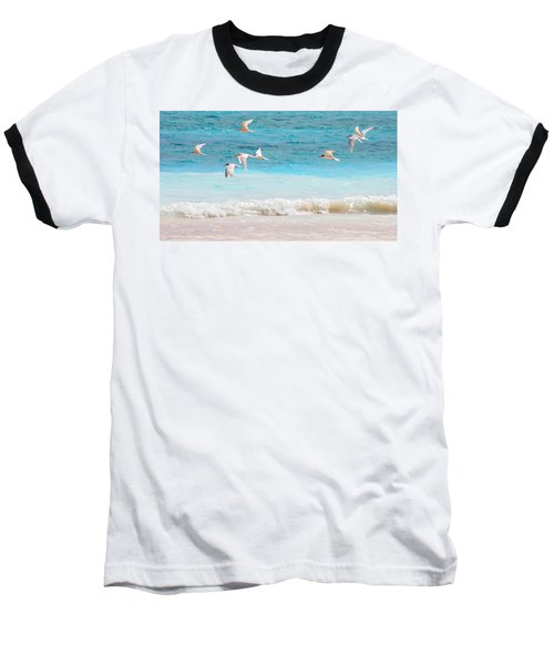 Like Birds In The Air Baseball T-Shirt by Jenny Rainbow