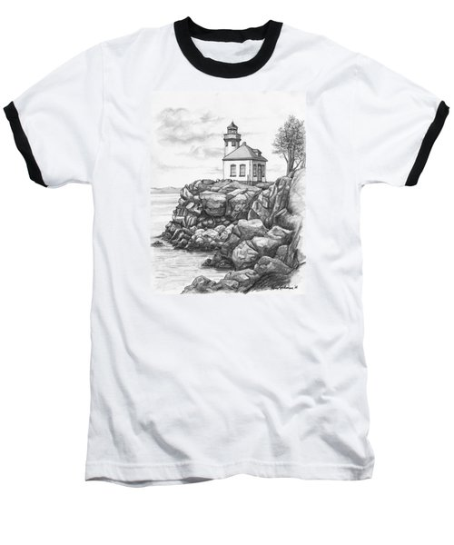 Lime Kiln Lighthouse Baseball T-Shirt by Kim Lockman