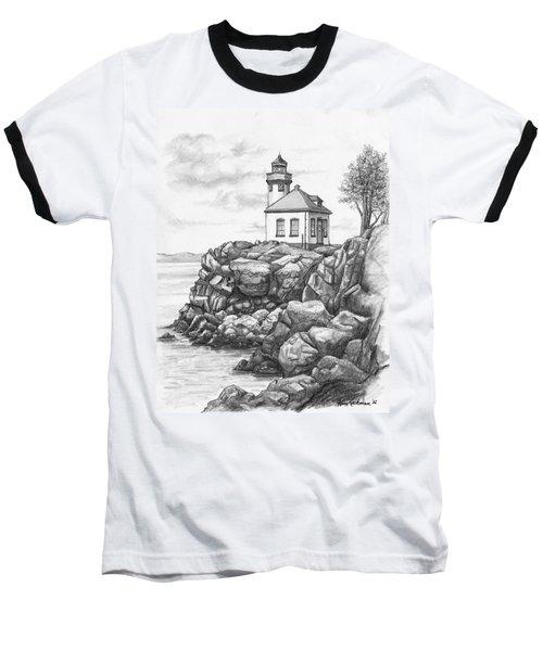 Lime Kiln Lighthouse Baseball T-Shirt