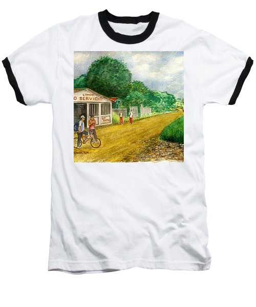 Limon Costa Rica Baseball T-Shirt by Frank Hunter