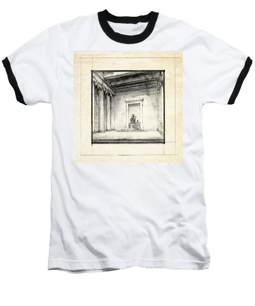 Lincoln Memorial Sketch IIi Baseball T-Shirt by Gary Bodnar