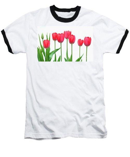 Line Of Tulips Baseball T-Shirt
