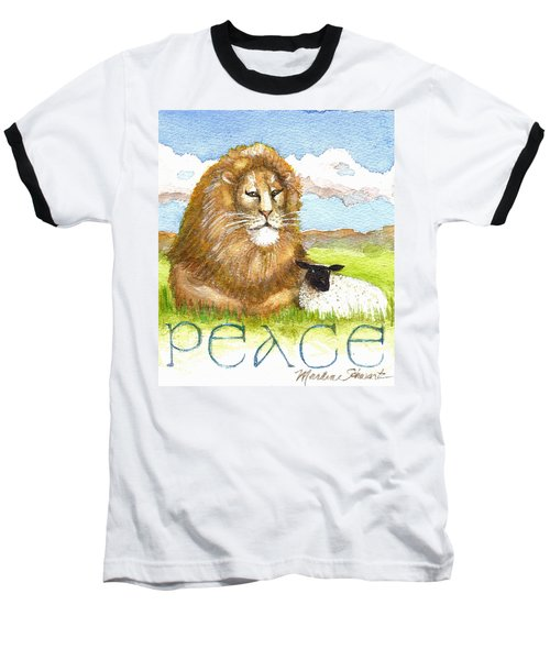 Lion And Lamb - Peace  Baseball T-Shirt