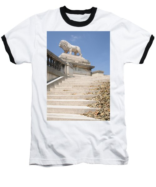 Lion Tuileries Garden Paris Baseball T-Shirt by Jeremy Voisey
