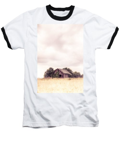 Baseball T-Shirt featuring the photograph Little Old Barn In The Field - Ontario County New York State by Gary Heller