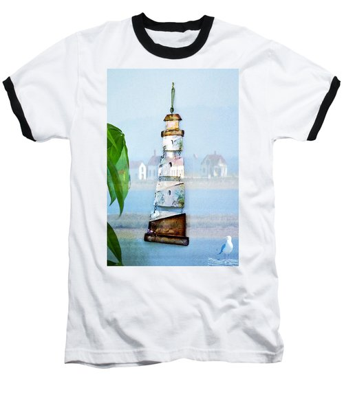Living By The Sea - Pacific Ocean Baseball T-Shirt