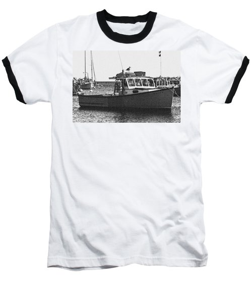 Lobster Boat Baseball T-Shirt