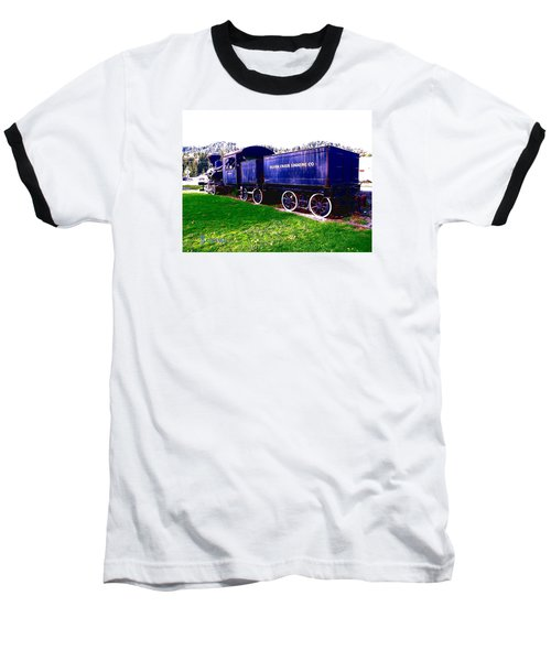 Baseball T-Shirt featuring the photograph Locomotive Steam Engine by Sadie Reneau