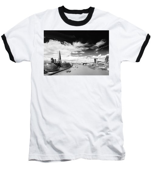 Baseball T-Shirt featuring the photograph London Panorama by Chevy Fleet