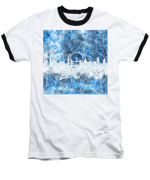 London Skyline Abstract 13 Baseball T-Shirt
