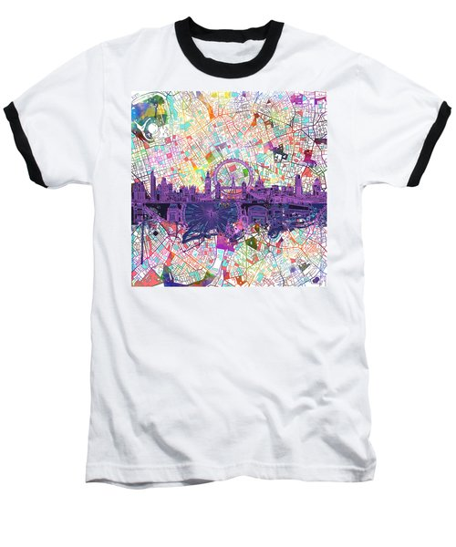 London Skyline Abstract Baseball T-Shirt