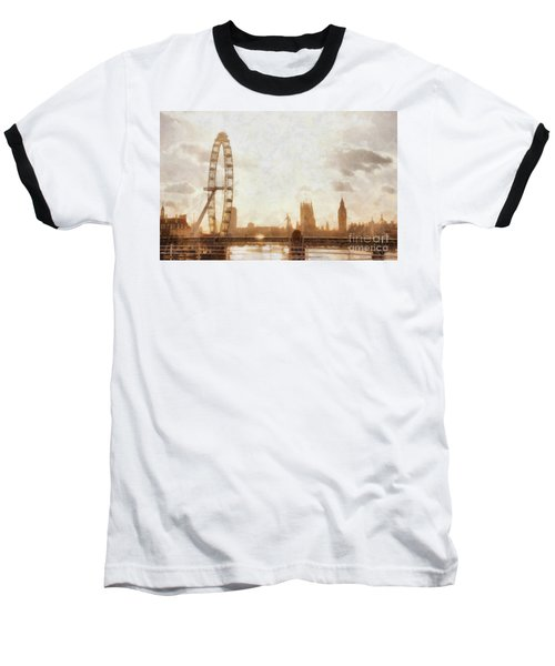 London Skyline At Dusk 01 Baseball T-Shirt