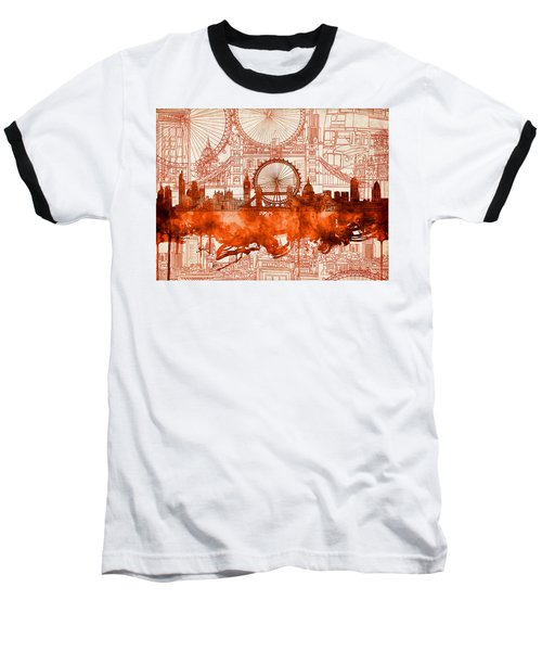 London Skyline Old Vintage 2 Baseball T-Shirt