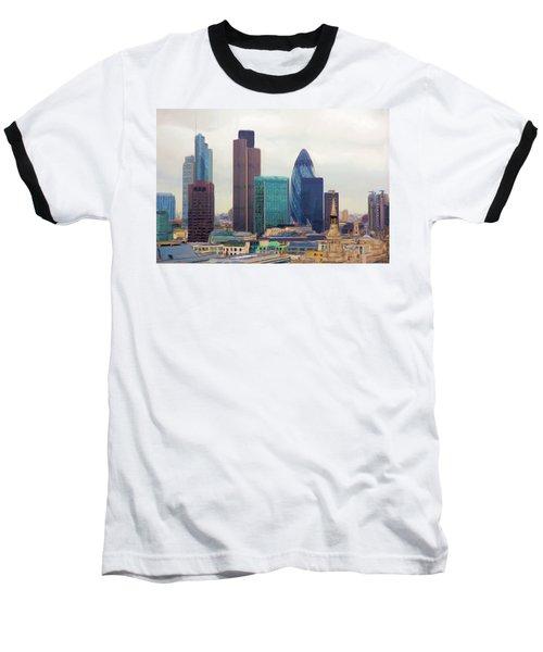 London Skyline Baseball T-Shirt by Ron Harpham