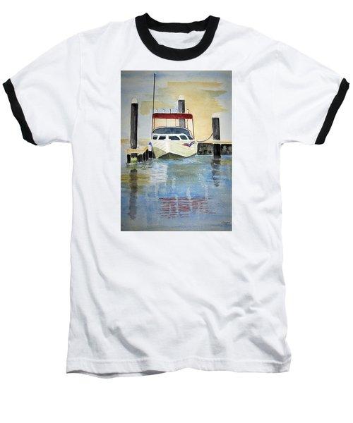Lone Boat Baseball T-Shirt by Elvira Ingram