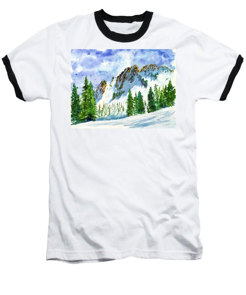 Lone Tree In The Afternoon Baseball T-Shirt