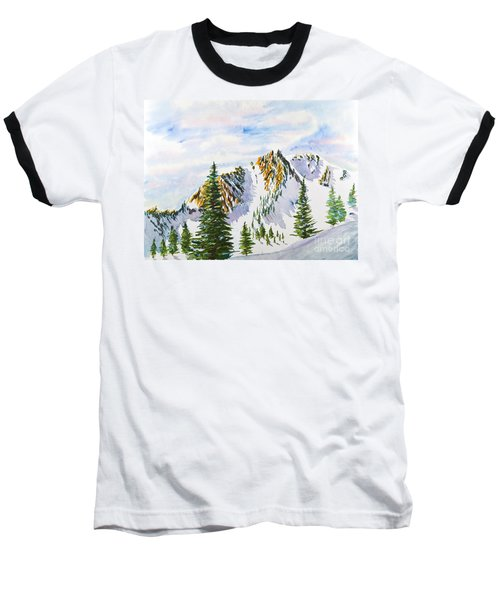 Lone Tree In The Morning Baseball T-Shirt