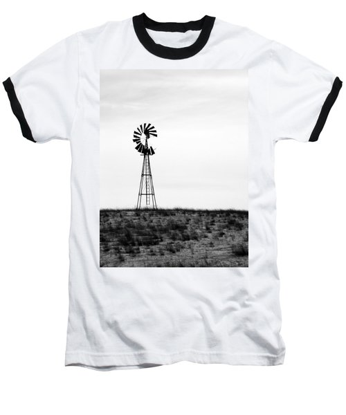 Baseball T-Shirt featuring the photograph Lone Windmill by Cathy Anderson