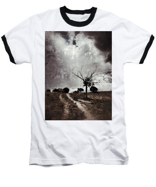 Lonely Tree Baseball T-Shirt by Mark David Gerson