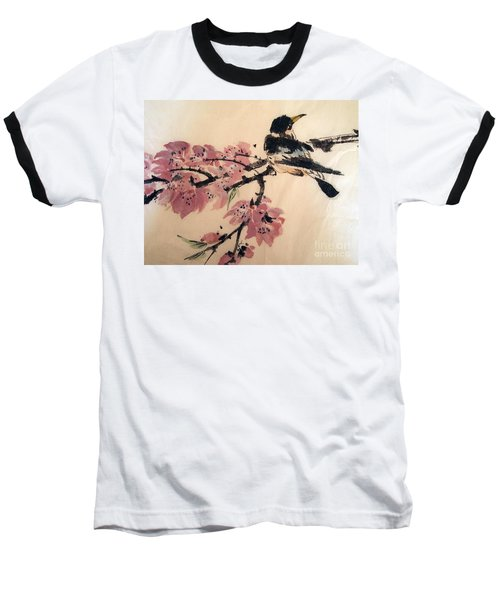 Baseball T-Shirt featuring the painting Looking Pretty by Nancy Kane Chapman
