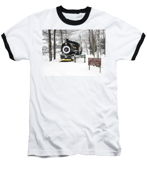 Loon Mountain Train Baseball T-Shirt