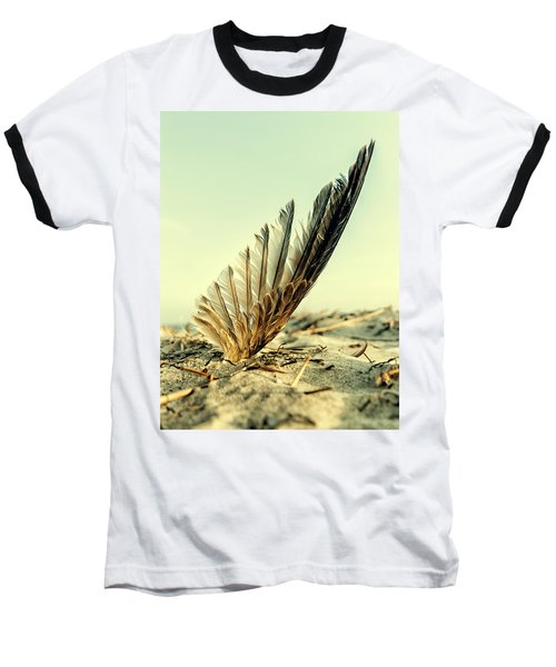 Lost Feather At The Beach Baseball T-Shirt