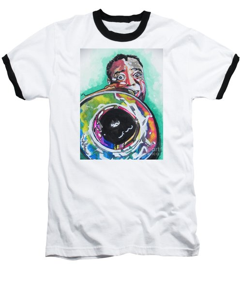 Louis Armstrong Baseball T-Shirt by Chrisann Ellis
