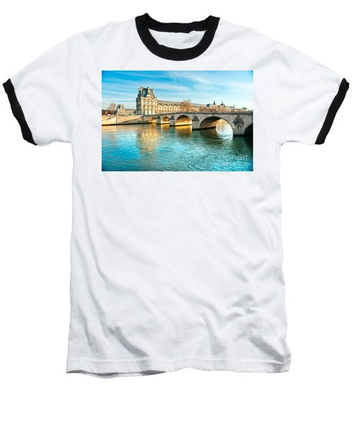Louvre Museum And Pont Royal - Paris  Baseball T-Shirt