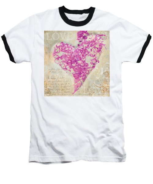 Love Is A Gift Baseball T-Shirt by Fran Riley