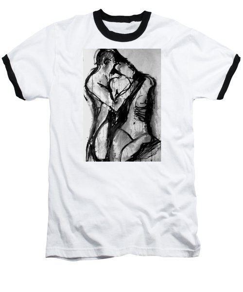 Baseball T-Shirt featuring the painting Love Me Tender by Jarmo Korhonen aka Jarko