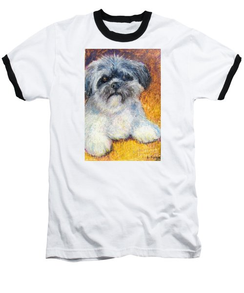 Love My Lhasa Baseball T-Shirt by Laurie Morgan