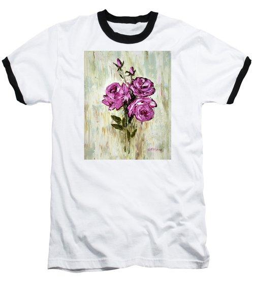 Lovely Roses Baseball T-Shirt